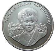 50 pence Princesse Anne – revers