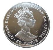 50 Pence - Elizabeth II (75th Birthday of Queen Elizabeth II) – avers
