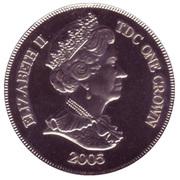 1 Crown - Elizabeth II (Royal wedding) – avers
