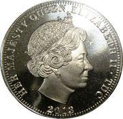½ Crown - Elizabeth II (4ème portrait) – avers