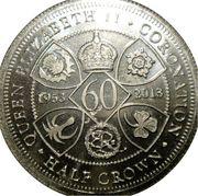 ½ Crown - Elizabeth II (4ème portrait) – revers
