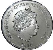 1/2 Crown - Elizabeth II (4ème portrait) – avers