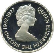 25 pence Jubilé d'argent (argent) – avers