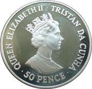 50 Pence - Elizabeth II (Winston Churchill) – avers