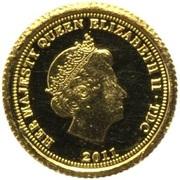 ½ Crown - Elizabeth II / Fabula Aurum - Lion and Bull – avers