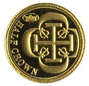 ½ Crown - Elizabeth II, 4th portrait / Fabula Aurum - Dublon – revers