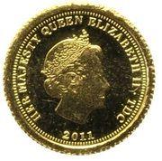 ½ Crown - Elizabeth II, 4th portrait  / Fabula Aurum - Aureus – avers