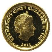 ½ Crown - Elizabeth II / Fabula Aurum - Alexander the Great -  avers