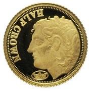 ½ Crown - Elizabeth II / Fabula Aurum - Alexander the Great – revers