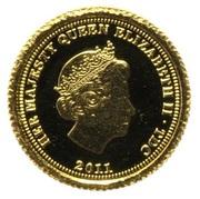 ½ Crown - Elizabeth II, 4th portrait / Fabula Aurum - Sovereign – avers
