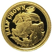 ½ Crown - Elizabeth II, 4th portrait / Fabula Aurum - Sovereign – revers
