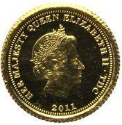 ½ Crown - Elizabeth II, 4th portrait / Fabula Aurum - Ecu d'or – avers