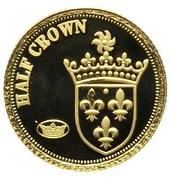 ½ Crown - Elizabeth II, 4th portrait / Fabula Aurum - Ecu d'or – revers