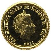 ½ Crown - Elizabeth II, 4th portrait / Fabula Aurum - Florin – avers