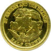 ½ Crown - Elizabeth II / Fabula Aurum  - Sovereign – revers