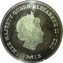 Tristan Da Cunha half crown Gold – avers