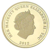 1/4 Sovereign - The Elizabeth and the Lion - Diamond Jubilee set – avers