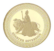 1/4 Sovereign - The Elizabeth and the Lion - Diamond Jubilee set – revers