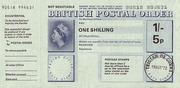 1 Shilling / 5 Pence - Postal Order – avers