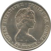 25 pence La reine mère (cupronickel) – avers