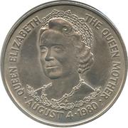 25 pence La reine mère (cupronickel) – revers