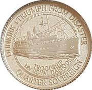 ¼ Sovereign - Elizabeth II Dunkirk 80th anniversary – revers