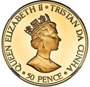 50 Pence - Elizabeth II (Queen Mother) – avers
