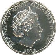 5 Pounds - Elizabeth II 4th portrait; Three Graces – avers