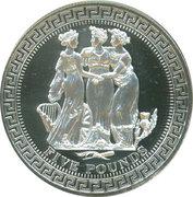5 Pounds - Elizabeth II 4th portrait; Three Graces – revers