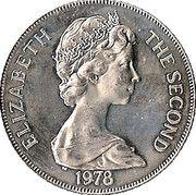 1 couronne Jubilé d'argent du couronnement – avers