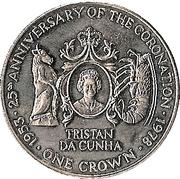 1 couronne Jubilé d'argent du couronnement – revers