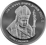 1 Crown - Elizabeth II (Pape Jean-Paul II) – revers