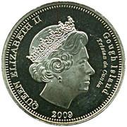 5 pence Elizabeth II (Île Gough) – avers