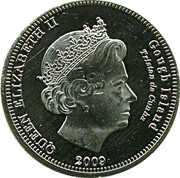 10 pence Elizabeth II (Île Gough) – avers