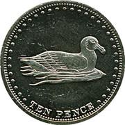 10 pence Elizabeth II (Île Gough) – revers