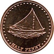 ½ penny Elizabeth II (Île Stoltenhoff) – revers