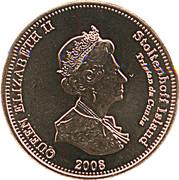 2 pence Elizabeth II (Île Stoltenhoff) – avers