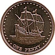 1 penny Elizabeth II (Île Stoltenhoff) – revers
