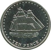 10 pence Elizabeth II (Île Stoltenhoff) – revers