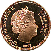 ½ penny Elizabeth II (Île Gough) – avers