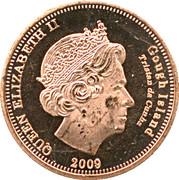 1 penny Elizabeth II (Île Gough) – avers