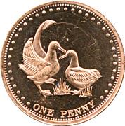 1 penny Elizabeth II (Île Gough) – revers