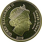 20 pence Elizabeth II (Île Gough) – avers