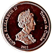 ½ penny Elizabeth II (Île de Nightingale) – avers