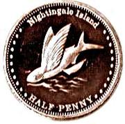 ½ penny Elizabeth II (Île de Nightingale) – revers