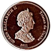 1 penny Elizabeth II (Île de Nightingale) – avers