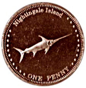 1 penny Elizabeth II (Île de Nightingale) – revers
