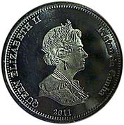 10 pence Elizabeth II (Nightingale Island) – avers