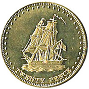 20 pence Elizabeth II (Île Stoltenhoff) – revers