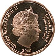 2 pence Elizabeth II (Île Gough) – avers